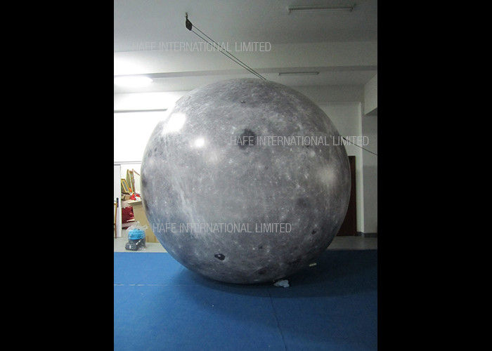 Elegant 12000W Moon Helium Balloon Lights , Night Flying Illuminate Led Lights Inside Balloons