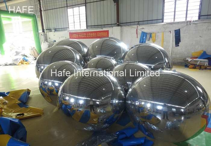 Silver Golden Current Stock Inflatable Mirror Ball Reflection Beauty Surround For Theme Show